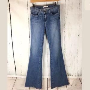 J brand 28 bell bottom flare jeans